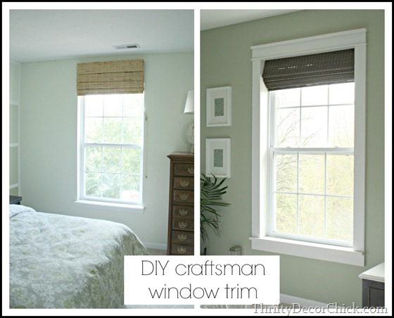 DIY craftsman window trim