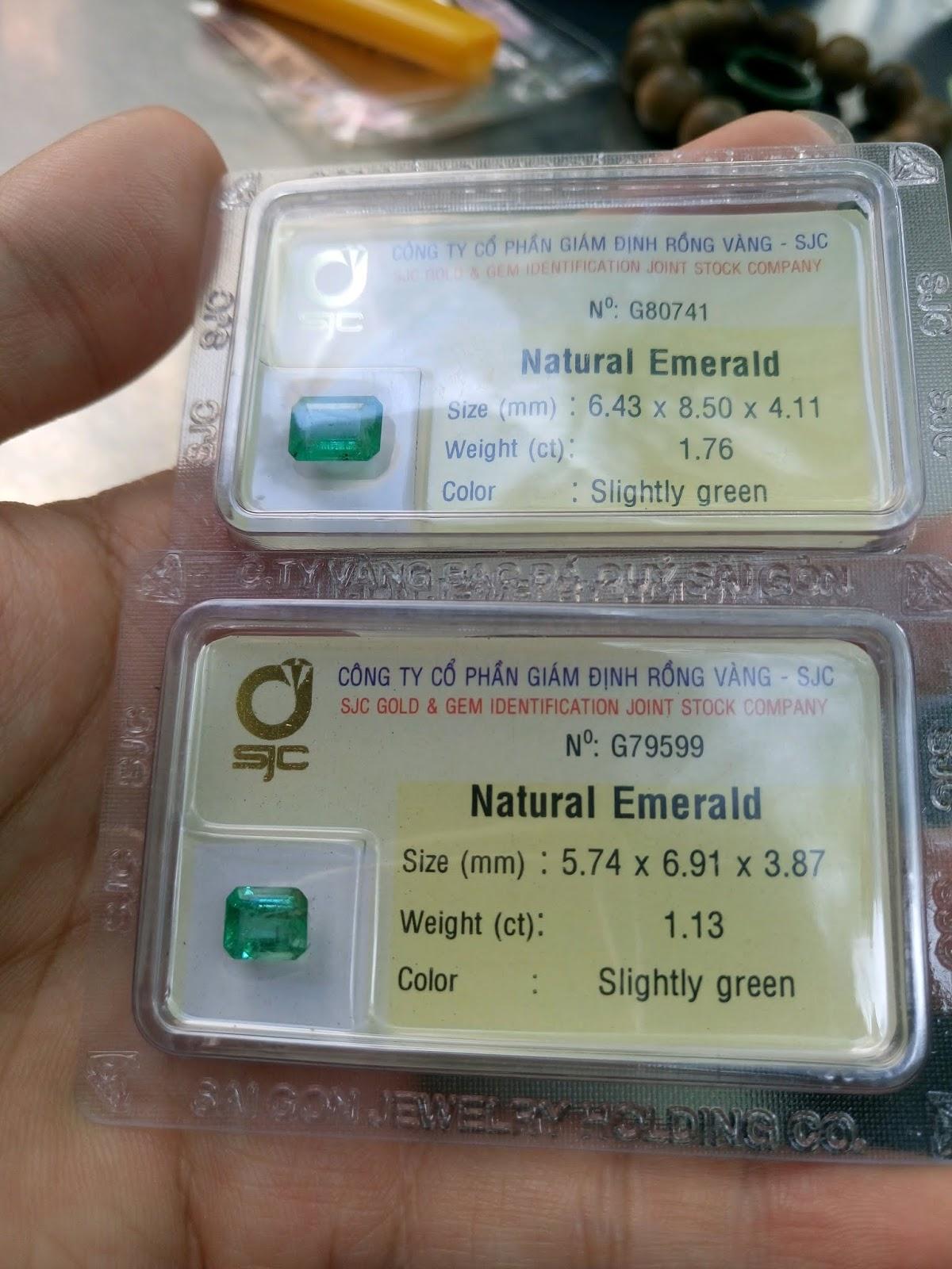 Ngọc Lục Bảo thiên nhiên, Natural Emerald