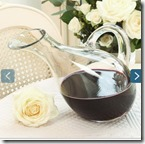 Red Wine Tilted Glass Carafe