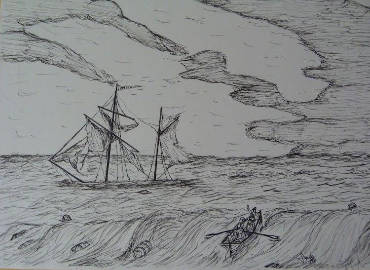 Recreación artistica de la tragedia del LA UNION. Remitido por Aquiles Garea. Nuestro agradecimiento..JPG