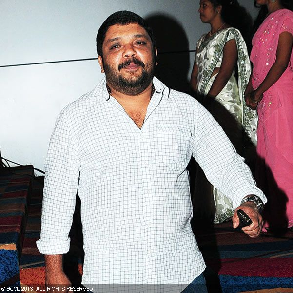 Johny Antony during Vinu Mohan, Vidya's wedding reception held in Kerala.