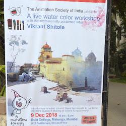 Vikrant Shitole - Watercolor Workshop Dec 9, 2018