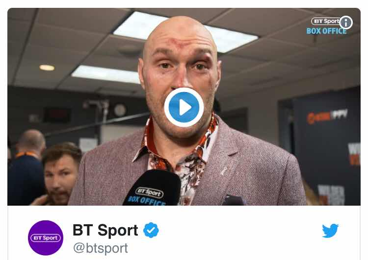 Fury has an exciting message for all those with depression problems