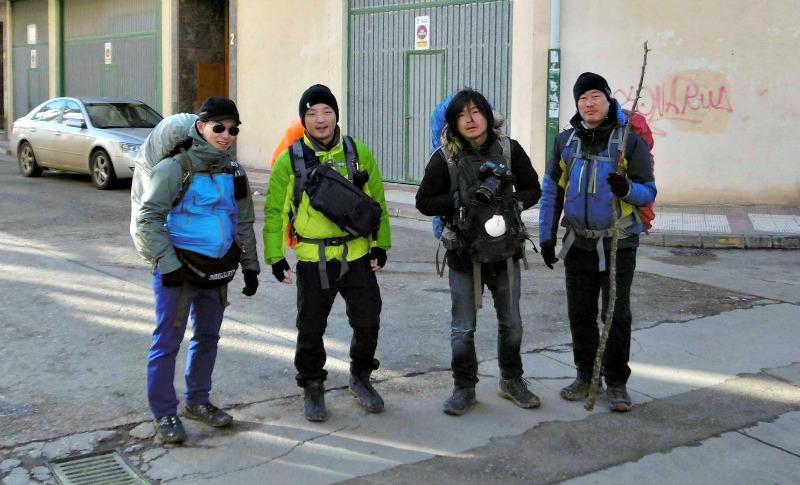 Los coreanos, peregrinos de invierno
