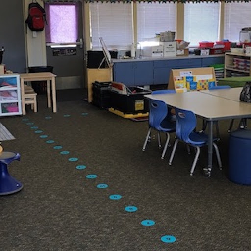 Sit-spots to form class lines for classroom managment
