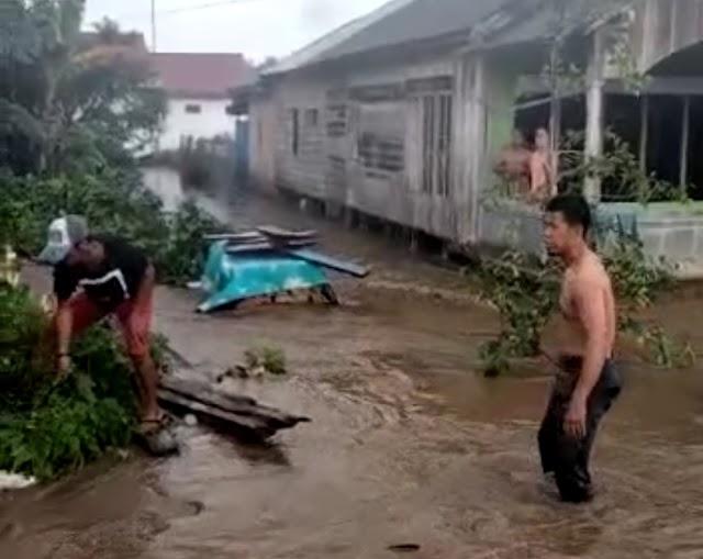 Sedang Bahas Konpensasi Tambang 700 Milyar di Pulau Laut Tengah Malah Sudah Kebanjiran