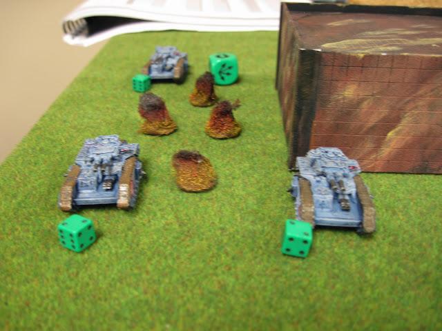 Eric's Macharius escorting their Green Cubes of Life.