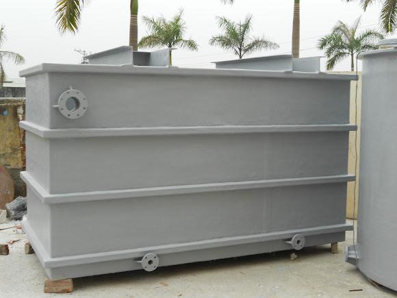 Bồn composite hình khối hộp