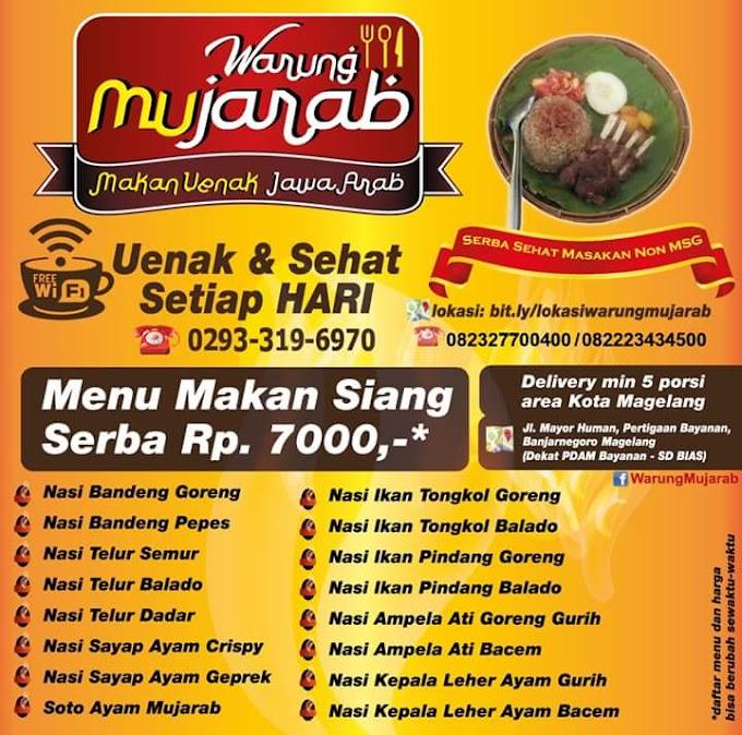 Warung Mujarab, Makan Enak Jawa Arab di kota Magelang