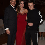 OIC - ENTSIMAGES.COM - Nina Naustdal with Zodiac and Ben Official at the   Nina Naustdal - catwalk show  as Oslo born designer exhibits her aw 2015 couture - ss 2016 and childrens wear collections in collaboration with MTV Staying Alive Foundation in London 27th September 2015 Photo Mobis Photos/OIC 0203 174 1069