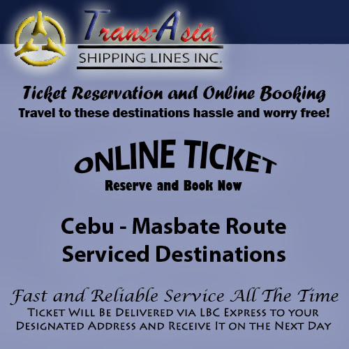 Trans-Asia Shipping Cebu-Masbate Route Ticket Reservation and Online Booking
