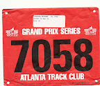 Mike's race bib.