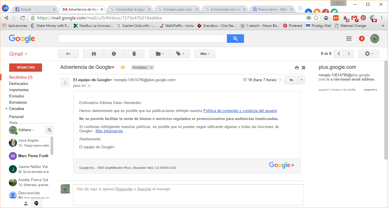 He recibido una advertencia por correo https://i0.wp.com/mail.google.com/mail/u/0/#inbox/1575e47b516eebba - Foros de los productos de Google