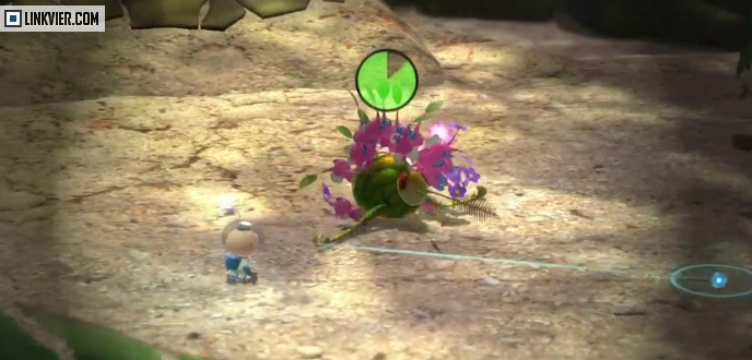 Winged Pikmin attacking a creature
