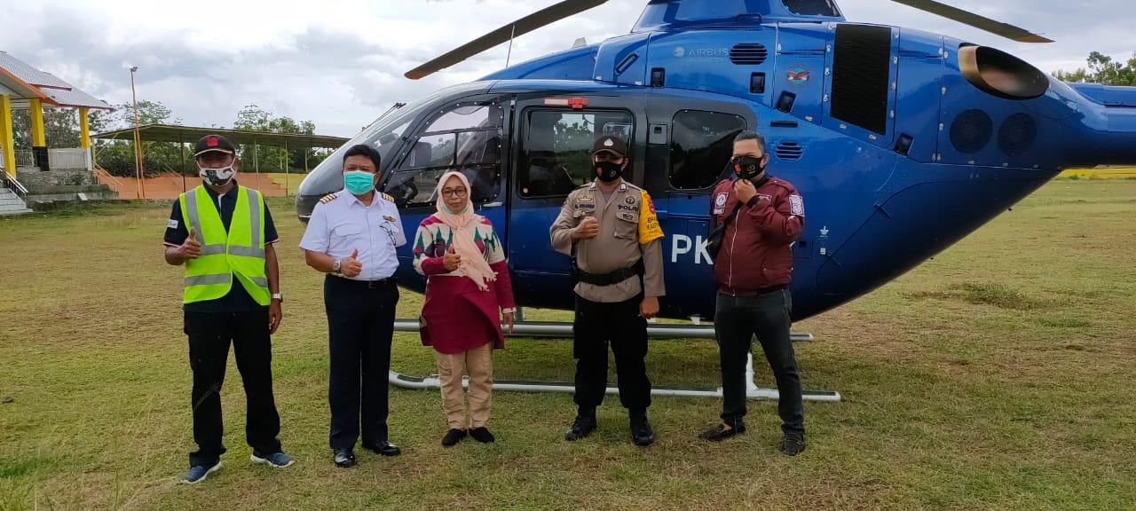 Helikopter Mendarat Darurat di Desa Pesse, Kapolsek Donri Donri Iptu Masudi Ungkap Kronologinya