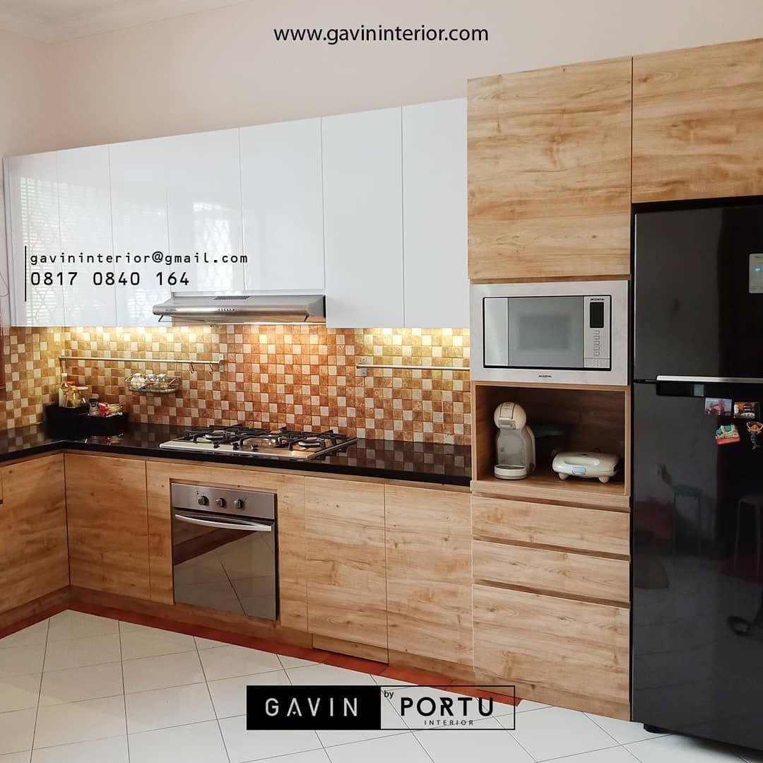 furniture dapur cantik desain kayu