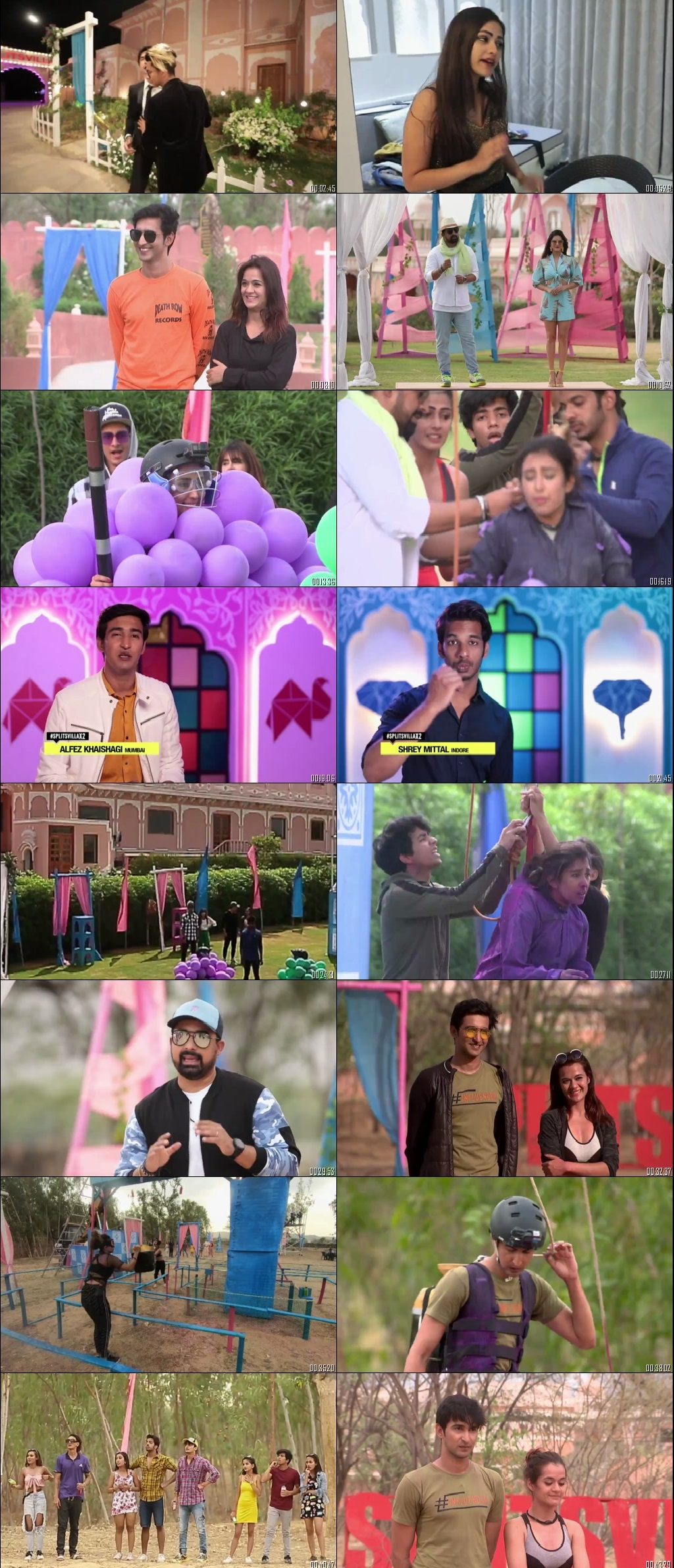 Screenshots Of Hindi Show Splitsvilla 12 29th November 2019 Episode 16 300MB 720P HD