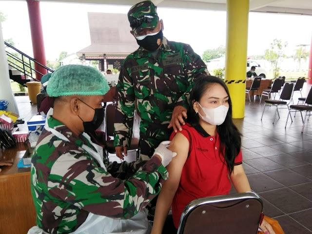 TNI AD Kejar Target Vaksinasi Dosis Kedua di Palangka Raya