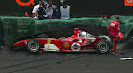 Crashed Michael Schumacher Ferrari F2004