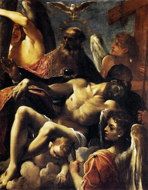 Ludovico Carracci - The Trinity with the Dead Christ