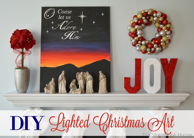 DIY Lighted Christmas Art
