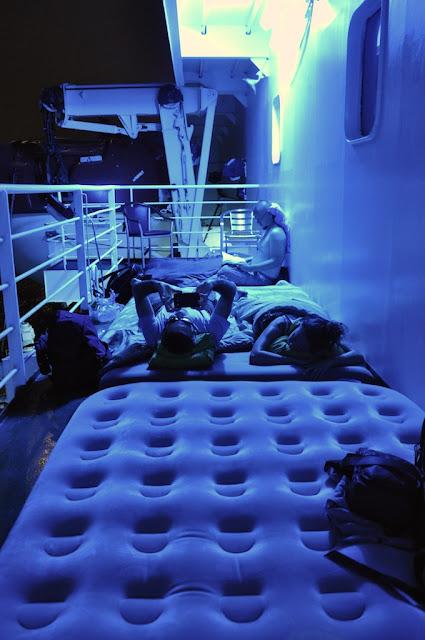 Une nuit sur un ferry