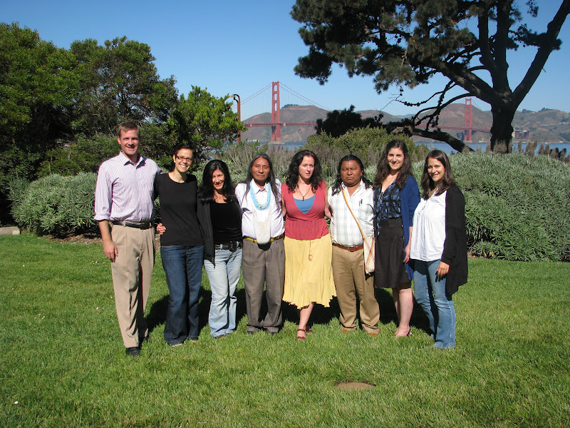 In 1998, the Goldman Foundation, which issues a prestigious environmental prize every year, recognized Berito for his activism against Occidental Petroleum's plans to explore for oil in U'wa territory. We took advantage of our SF stop to visit his friends at Goldman in their Presidio offices.