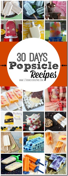 30 Days of Popsicle Recipes - YUMMY! So many delicious Popsicle recipes to try out with the kids this summer from Blackberry Mango to Fudgesicles, Smore, Strawberry Peach, Funfetti, Blueberry Oatmeal, and many, many more! Great for easy dessert recipes!