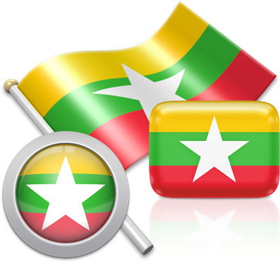 Burmese flag icons pictures collection