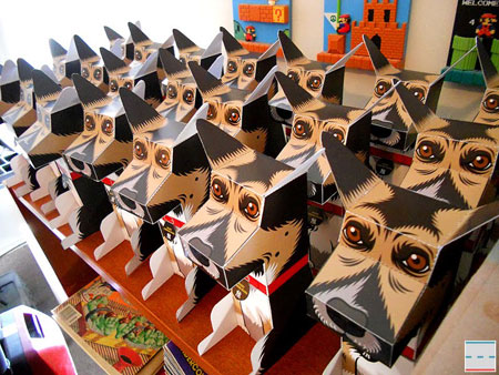 Spanky the Dog Paper Toy
