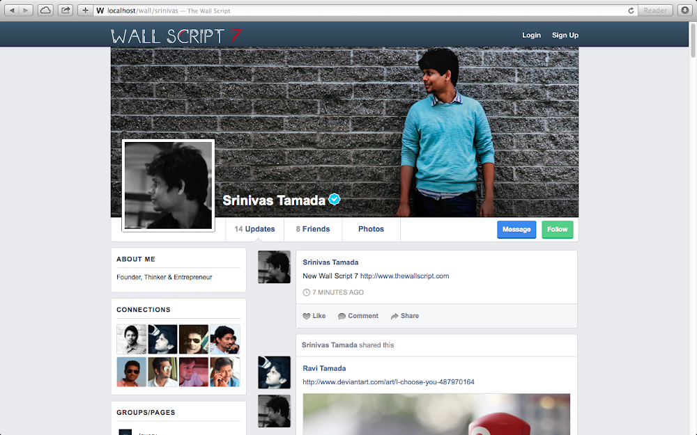 Profiel Page