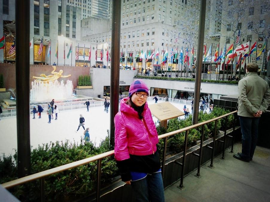 Rockefeller 外面的滑冰场