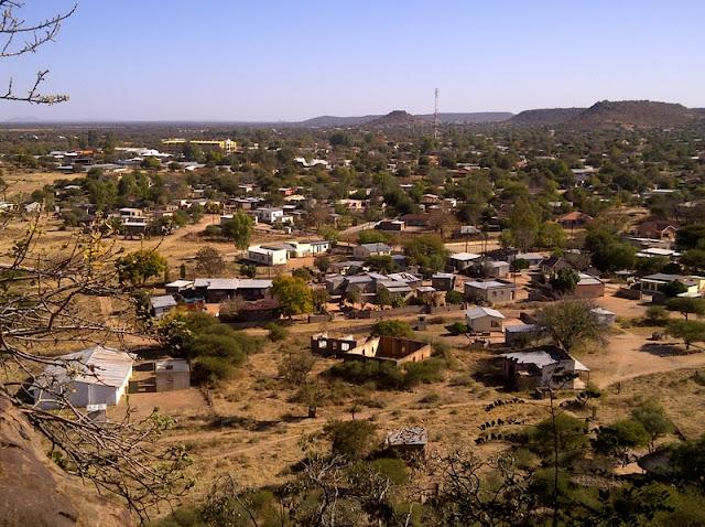 Mochudi looking toward Paphane Hill