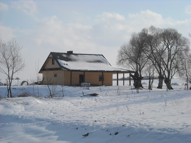 Dom widoczny z drogi