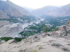 View of entire Hunza valley can be seen from Duikher.