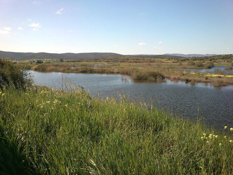 Embalse con agua del río Guadiana