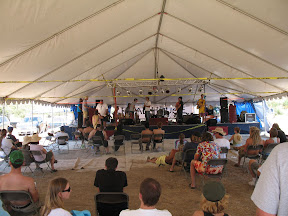 Ranchita Rocks had multiple stages. This one was closest to the booth and offered shade.