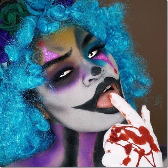maquillaje de payaso horripilante (1)