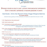 "Convegno ""Spending review in health care: lessons from innovative experiences"""