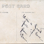 Back of post card from Elaine.