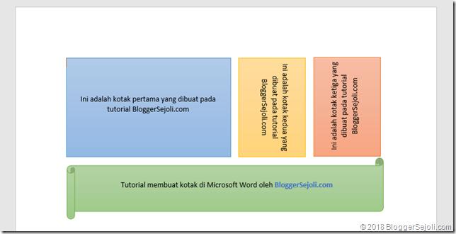Ragam Kotak Di Microsoft Word