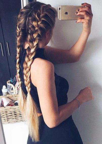 long hair -A collection of ideas for braided hair In 2017 11