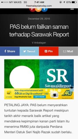 Laporan Sarawak Report Tentang Skandal 1MDB