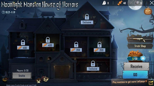 PUBG Mobile'da Moonlight Mansion House of Horrors etkinliği: Ücretsiz Karakter Çeki, Sirk Dansçısı seti ve diğer ödüller