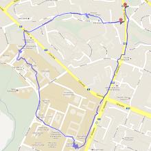 Photo: Trasa asi 4,5 km a 1 hodina chůze
