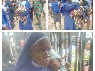 LIVE!!! Rev Sister Apprehended While Trying To Sell Kidnapped Baby In Anambra State (PHOTOS)