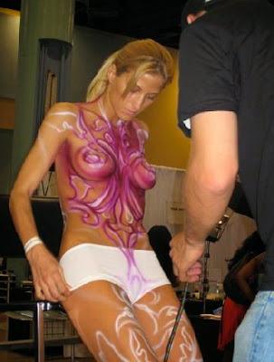 Simple technique Body Art  Human Paint
