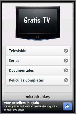 Aplicacion Android ver tv series peliculas documentales