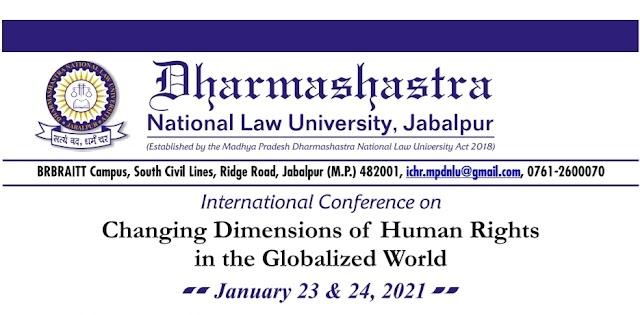 [Online] International Human Right Conference at DNLU, Jabalpur 23rd – 24th January 2021[Registration Free]