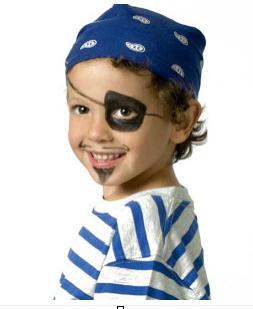 parche en el ojo pirata